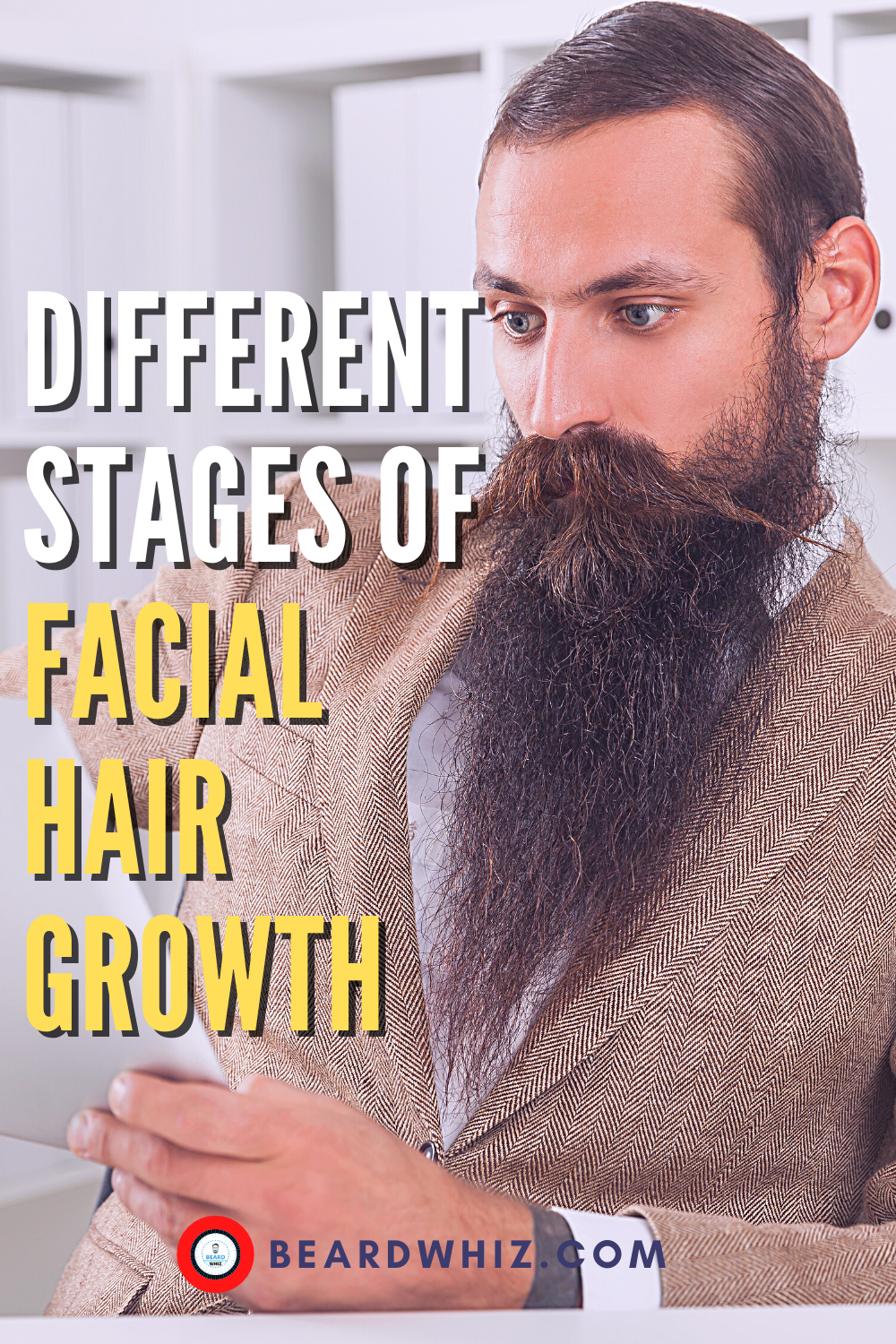 stages of growing a beard