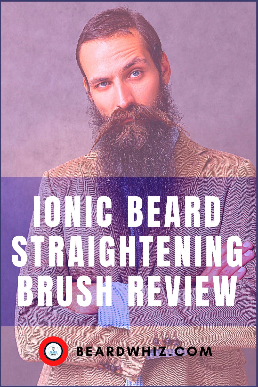 ionic beard straightening brush for men